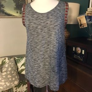 Boho soft tank top blouse